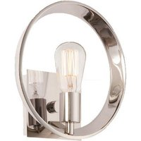 Theater Row 1 Light Imperial Silver Finish Wall Light