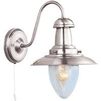Searchlight 5331 1SS Fisherman 1 Light Wall Light In Satin Silver