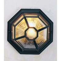 Norlys LA8 BLACK Latina exterior flush lantern for wall or ceiling