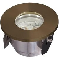 GZ Fusion2 LED Ground Light In Brass from Garden Zone