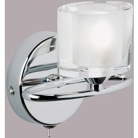 Endon 91181 1 Light Wall Light In Chrome and Crystal