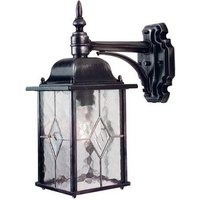 Elstead WX2 Wexford black silver outside wall light  IP43