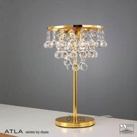 IL30031 Atla Gold And Crystal Table Lamp