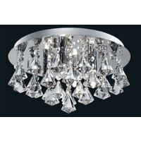 Searchlight 3304 4CC Hanna 4 Light Flush Ceiling Crystal Light