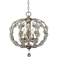 FE LEILA3 Leila 3 Light Burnished Silver Ceiling Pendant