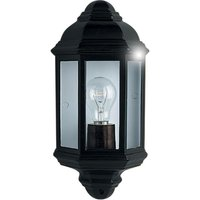 Searchlight 280BK 1 Light Outdoor Wall Lantern Light In Black