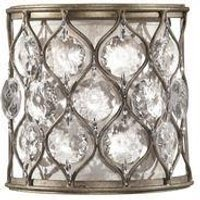 FE LUCIA1 Lucia 1 Light Burnished Silver Finish Wall Light