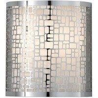 FE JOPLIN1 Joplin 1 Light Chrome Wall Light with Cut Metal Shade