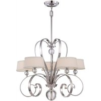 QZ MADISONM5 IS Imperial Silver Madison Manor 5 Light Chandelier