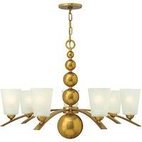 HK ZELDA7 VS Zelda 7 Light Ceiling Chandelier Light In Vintage Brass