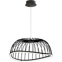 Mantra M6684 Celeste 1 Light Ceiling Pendant In Black   Dia  610mm