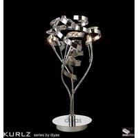 IL30185 Kurlz 3 Light Chrome And Crystal Table Lamp