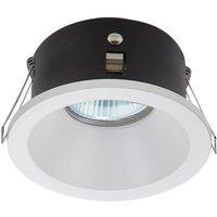 Mantra M6810 Comfort IP 1 Light Round Bathroom Downlight In Matt White