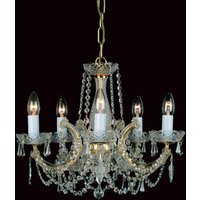 Preciosa 5 Light Marie Therese Crystal Chandelier CP00150/5/CH