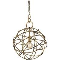 F2366 1 One Light Ceiling Pendant Light In Gold Ironwork