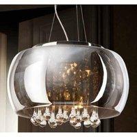 AZzardo AZ0699 Burn 5 Light Ceiling Pendant Light In Chrome And Clear Crystal