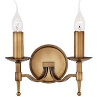 Interiors 1900 CA1W2B Stanford Brass Twin Wall Light in Brass   Fitting Only
