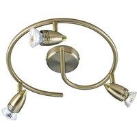 Dar GEM8275 Gemini Antique Brass 3 Light LED Spotlight
