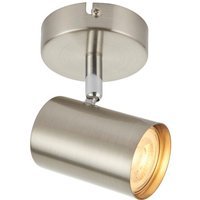 Saxby 73687 Arezzo One Light Plate Ceiling Or Wall Spotlight In Satin Chrome