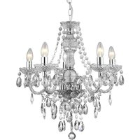 Searchlight 8885-5CL Marie Therese 5 Light Clear Acrylic Chandelier