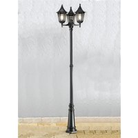 OUT6253 1 Boardwalk Exterior Triple Lamp Post  IP43