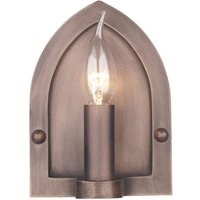 David Hunt Lighting LW864 Lindisfarne 1 Light Copper Finish Wall Light