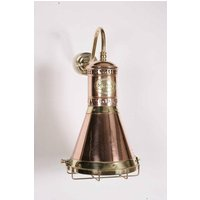 Freighter 451 PB Traditional Solid Copper and Brass Wall Lamp