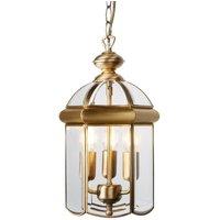 Searchlight 7133AB 3 Light Ceiling Lantern Light In Antique Brass