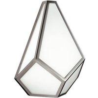 FE DIAMOND1 Diamond 1 Light White Glass Wall Light