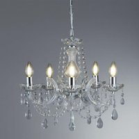 Searchlight 399 5 Marie Therese 5 Light Chandelier Ceiling Light In Polished Chrome