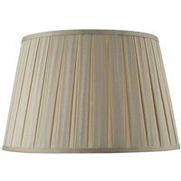 DEG1829 Degas Box Pleat Faux Silk Tapered Drum Shade In Taupe