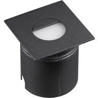 Mantra M7031 Aspen 1 Light Outdoor 3 Watt LED Square Eyelid Wall Lamp In Sand Black