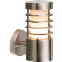 Saxby 13798 Bliss 1 Light Exterior Brushed Steel Wall Light