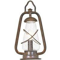 Elstead MINERS PEDESTAL wrought iron outside pedestal lantern
