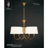 M0540 Paola 6 Light Gold Chandelier With Cream Shades