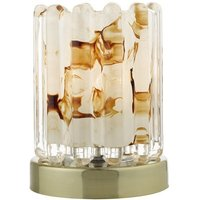 ELF4175 Elf Antique Brass and Glass Touch Table Lamp