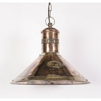 Deck 449 PB Traditional Solid Copper and Brass Ceiling Pendant