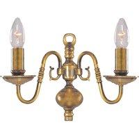 Searchlight 1019 2AB Flemish Antique Brass Wall Light