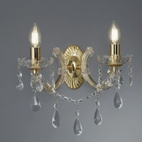 Searchlight 699 2 Marie Therese 2 Light Wall Light In Polished Brass