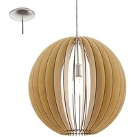 Eglo 94765 Cossano One Light Ceiling Pendant Light In Maple Wood   Dia  500mm