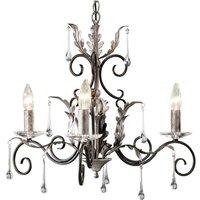Elstead AML3 Black Silver Amarilli 3 light ceiling pendant