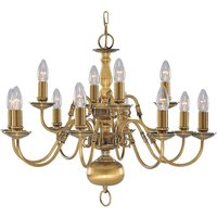 Searchlight 1019 12AB Flemish Antique Brass 12 Light Fitting