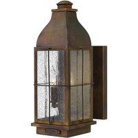 HK BINGHAM M Bingham 2 Light Medium Wall Lantern Light In Sienna   Height  406mm
