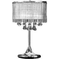T853 3 Light Chrome and Crystal Table Lamp