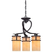 QZ KYLE3 Kyle 3 Light Imperial Bronze Dinette Chandelier with Onyz Shades