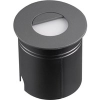 Mantra M7027 Aspen 1 Light Outdoor 3 Watt LED Round Eyelid Wall Lamp In Anthracite