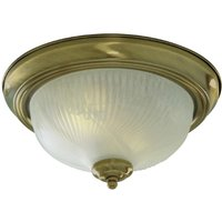 Searchlight 7622 11AB Flush fitting with Antique Brass Trim