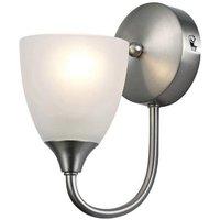 Cooper 1 Light Wall Light In Satin Nickel