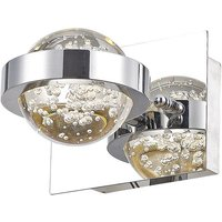 Dar LIV0750 Livia 1 Light Wall Light In Polished Chrome