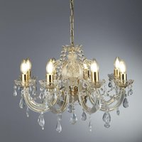 Searchlight 699 8 Marie Therese 8 Light Ceiling Chandelier In Polished Brass